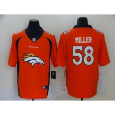 Denver Broncos #58 Von Miller Orange Team Big Logo Vapor Untouchable Limited Men Jersey