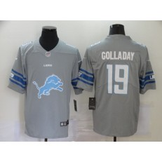 Detroit Lions #19 Kenny Golladay Gray Team Big Logo Vapor Untouchable Limited Jersey