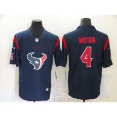 Houston Texans #4 Deshaun Watson Navy Team Big Logo Color Rush Limited Jersey