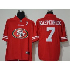 San Francisco 49ers #7 Colin Kaepernick Red Team Big Logo Number Vapor Untouchable Limited Men Jersey