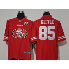 San Francisco 49ers #85 George Kittle Red Team Big Logo Number Vapor Untouchable Limited Men Jersey