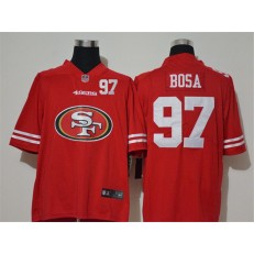 San Francisco 49ers #97 Nick Bosa Red Team Big Logo Number Vapor Untouchable Limited Men Jersey