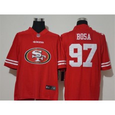 San Francisco 49ers #97 Nick Bosa Red Team Big Logo Vapor Untouchable Limited Men Jersey
