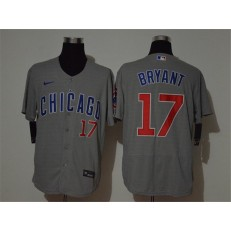 MLB Chicago Cubs #17 Kris Bryant Gray 2020 Nike Cool Base Jersey