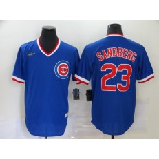 MLB Chicago Cubs #23 Ryne Sandberg Royal Nike Throwback Jersey