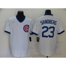 MLB Chicago Cubs #23 Ryne Sandberg White Nike Cool Base Jersey