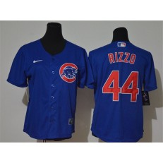 MLB Chicago Cubs #44 Anthony Rizzo Royal Women Nike Cool Base Jersey