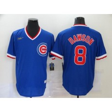 MLB Chicago Cubs #8 Andre Dawson Royal Nike Throwback Jersey