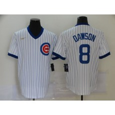 MLB Chicago Cubs #8 Andre Dawson White Nike Cool Base Jersey