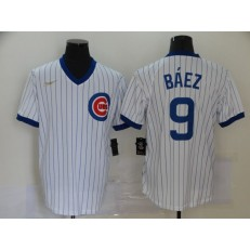 MLB Chicago Cubs #9 Javier Baez White 2020 Nike Cool Base Jersey