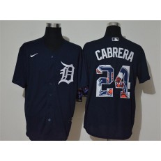 MLB Detroit Tigers #24 Miguel Cabrera Navy 2020 Nike Cool Base Fashion Jersey