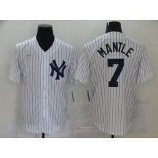 MLB New York Yankees #7 Mickey Mantle White Nike Cool Base Jersey