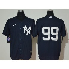 MLB New York Yankees #99 Aaron Judge Navy 2020 Nike Cool Base Replica Jersey