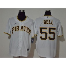 MLB Pittsburgh Pirates #55 Josh Bell White 2020 Nike Cool Base Jersey
