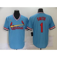 MLB St. Louis Cardinals #1 Ozzie Smith Light Blue Nike Cool Base Throwback Jersey