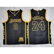 Los Angeles Lakers #24 Kobe Bryant Black Retirement Commemorative Nike Swingman Jersey