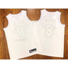 Los Angeles Lakers #8 Kobe Bryant White Nike AF 100 Commemorative Swingman Jersey