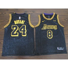 Los Angeles Lakers #8 & #24 Kobe Bryant Black Nike City Edition Swingman Jerseys