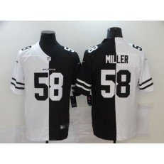Denver Broncos #58 Von Miller Black And White Split Vapor Untouchable Limited Jersey