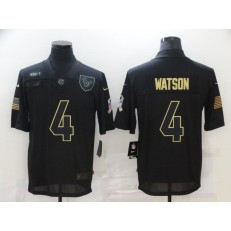 Houston Texans #4 Deshaun Watson Black 2020 Salute To Service Limited Jersey