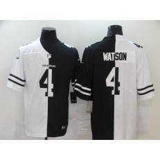 Houston Texans #4 Deshaun Watson Black And White Split Vapor Untouchable Limited Jersey
