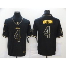 Houston Texans #4 Deshaun Watson Black Gold Vapor Untouchable Limited Jersey