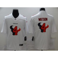 Houston Texans #4 Deshaun Watson White Shadow Logo Limited Jersey