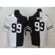 Houston Texans #99 J.J. Watt Black And White Split Vapor Untouchable Limited Jersey