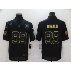 Los Angeles Rams #99 Aaron Donald Black 2020 Salute To Service Limited Jersey