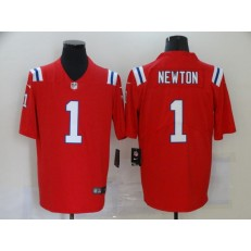 New England Patriots #1 Cam Newton Red Vapor Untouchable Limited Jersey
