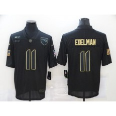 New England Patriots #11 Julian Edelman Black 2020 Salute To Service Limited Jersey