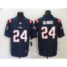 New England Patriots #24 Stephon Gilmore Navy New Vapor Untouchable Limited Jersey