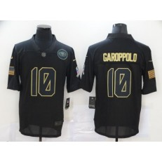 San Francisco 49ers #10 Jimmy Garoppolo Black 2020 Salute To Service Limited Jersey
