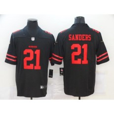San Francisco 49ers #21 Deion Sanders Black Vapor Untouchable Limited Jersey