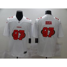 San Francisco 49ers #97 Nick Bosa White Shadow Logo Limited Jersey