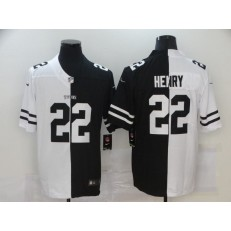 Tennessee Titans #22 Derrick Henry Black And White Split Vapor Untouchable Limited Jersey