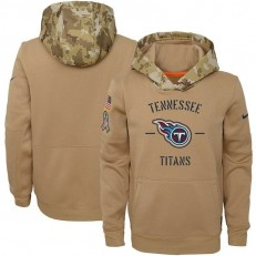 Youth Tennessee Titans Nike Khaki 2019 Salute to Service Therma Pullover Hoodie
