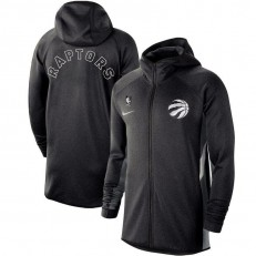 Nike Toronto Raptors Heathered Black Authentic Showtime Therma Flex Performance Full-Zip Hoodie