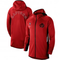 Nike Toronto Raptors Red Authentic Showtime Therma Flex Performance Full-Zip Hoodie
