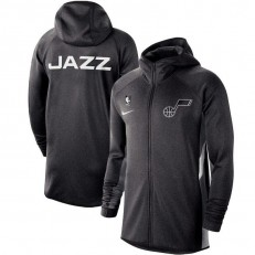 Nike Utah Jazz Heather Black Authentic Showtime Therma Flex Performance Full-Zip Hoodie