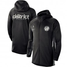 Nike Washington Wizards Heathered Black Authentic Showtime Therma Flex Performance Full-Zip Hoodie