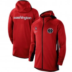Nike Washington Wizards Red Authentic Showtime Therma Flex Performance Full-Zip Hoodie