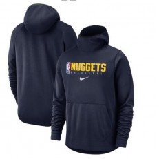 Denver Nuggets Nike Spotlight Practice Performance Pullover Hoodie - Navy