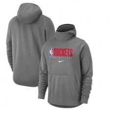 Houston Rockets Nike Spotlight Practice Performance Pullover Hoodie - Heather Gray