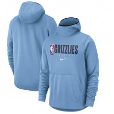 Memphis Grizzlies Nike Spotlight Practice Performance Pullover Hoodie - Light Blue