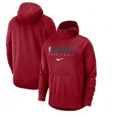 Miami Heat Nike Spotlight Practice Performance Pullover Hoodie - Red