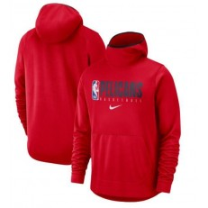 New Orleans Pelicans Nike Spotlight Practice Performance Pullover Hoodie - Red