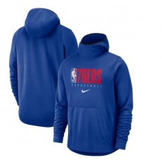 Philadelphia 76ers Nike Spotlight Practice Performance Pullover Hoodie - Royal