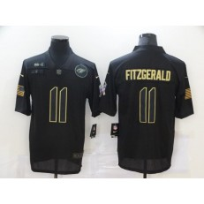 Arizona Cardinals #11 Larry Fitzgerald Black 2020 Salute To Service Limited Jersey