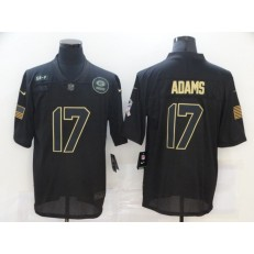 Green Bay Packers #17 Davante Adams Black 2020 Salute To Service Limited Jersey